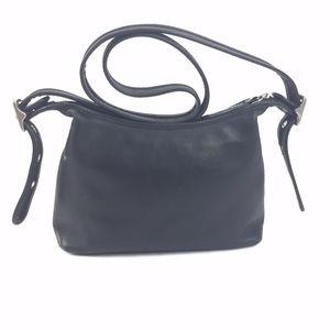 Legacy Vintage Coach Black Leather Crossbody Bag